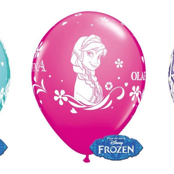 Латексные шарики с рисунком Холодное сердце Анна и Эльза