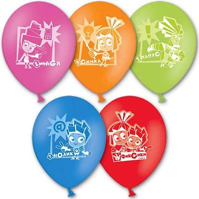 Латексные шарики с рисунком Фиксики