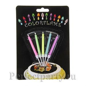 Свечи с разноцветным огнем 5 штук