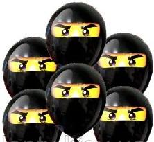 Черный латексный шарик Ниндзяго.