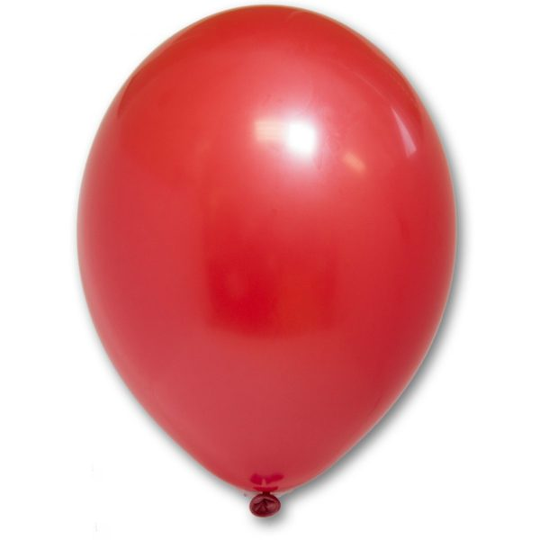 Латексный шарик стандартный красный пастель.
