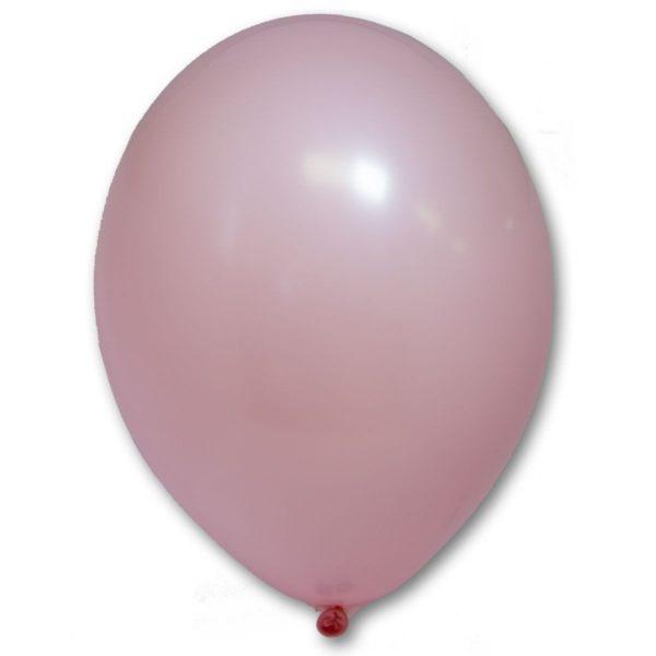 Латексный шарик стандартный розовый пастель.