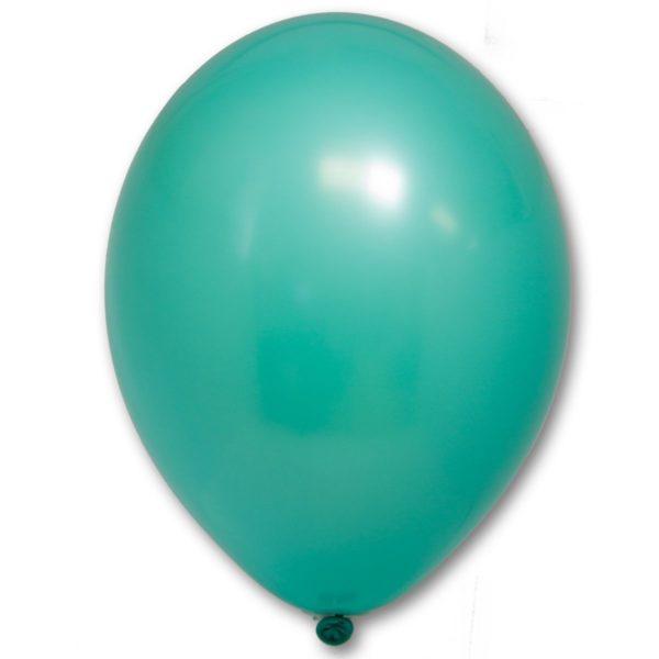 Латексный шарик стандартный бирюзовый пастель.