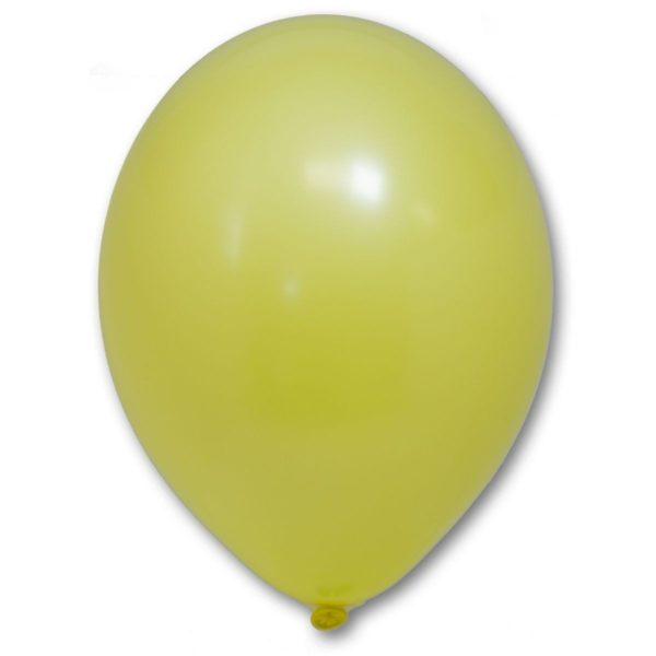 Латексный шарик стандартный желтый пастель.