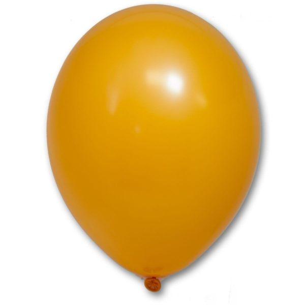 Латексный шарик стандартный оранжевый пастель.