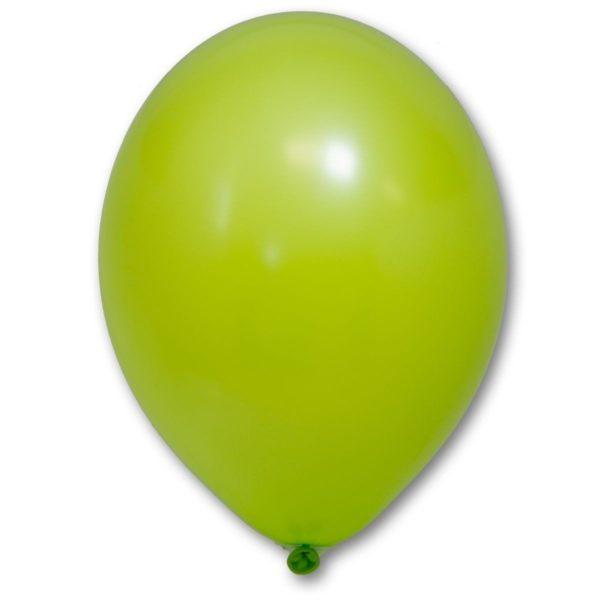 Латексный шарик стандартный зеленое яблоко пастель.