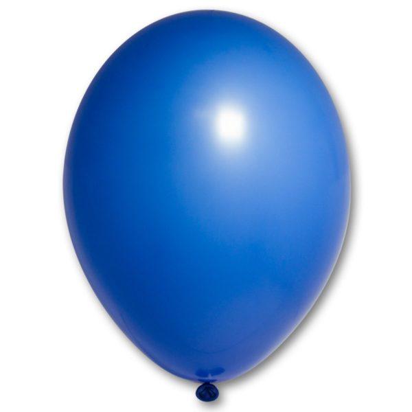 Латексный шарик стандартный синий пастель.