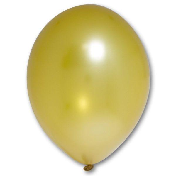 Латексный шарик стандартный металик золотой.