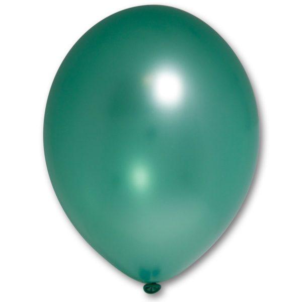 Латексный шарик стандартный металик насыщенно-зеленый.