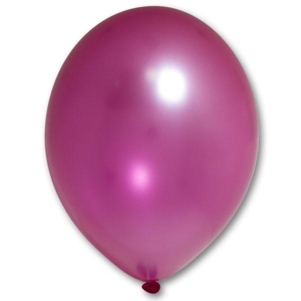 Латексный шарик стандартный металик малиновый.