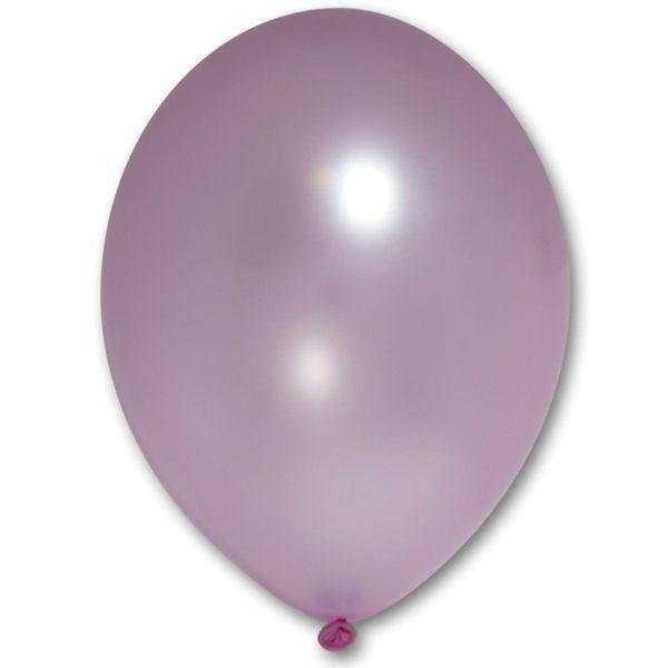 Латексный шарик стандартный металик розовый.