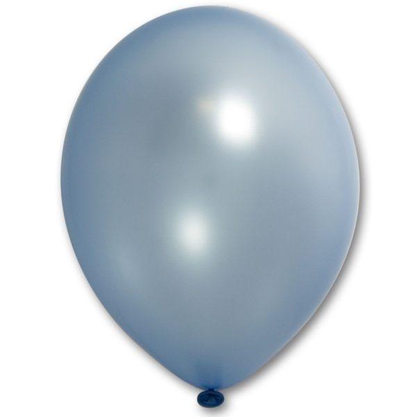 Латексный шарик стандартный металик голубой.