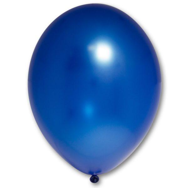 Латексный шарик стандартный металик синий.