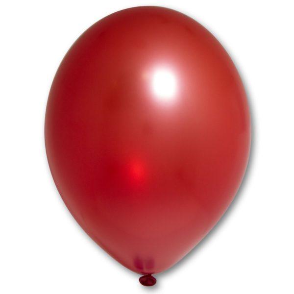 Латексный шарик стандартный металик красный.