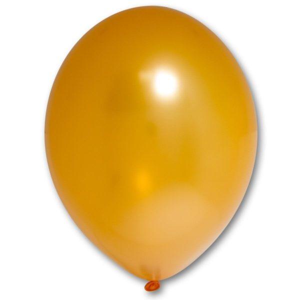 Латексный шарик стандартный металик оранжевый.
