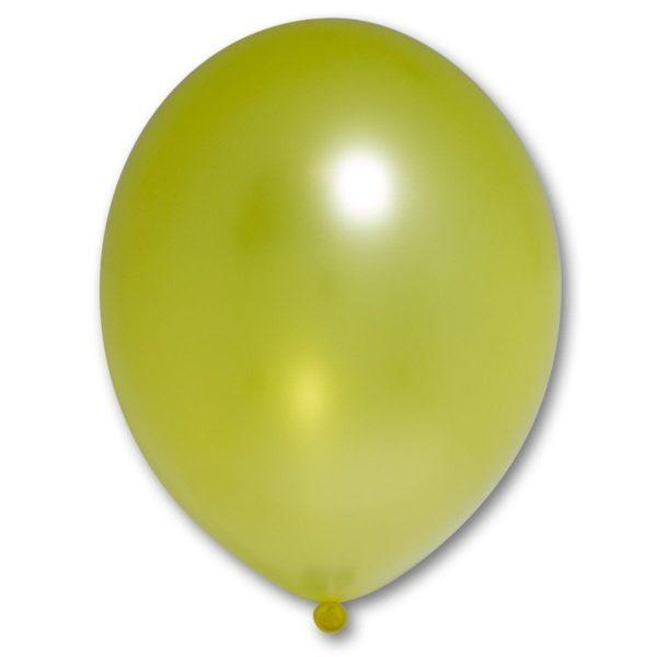 Латексный шарик стандартный металик желтый.