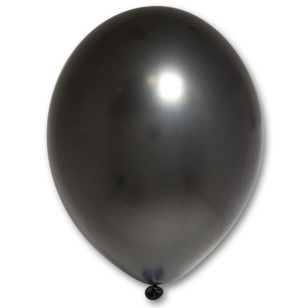 Латексный шарик стандартный металик черный.