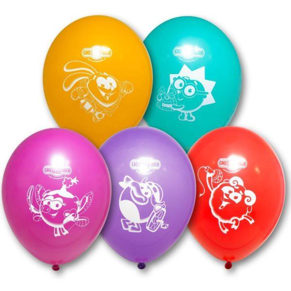 Латексные шарики с рисунком Смешарики