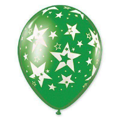 Латексные шарики с рисунком Звезды