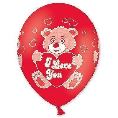 Латексные шарики с рисунком Мишки Love