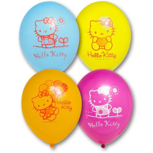 Латексные шарики с рисунком hello kitty