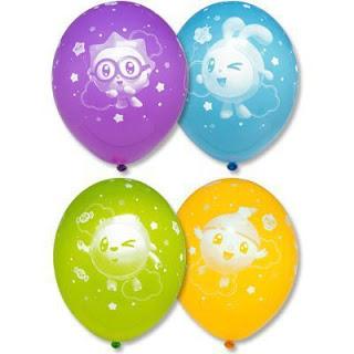 Латексные шарики с рисунком Малышарики
