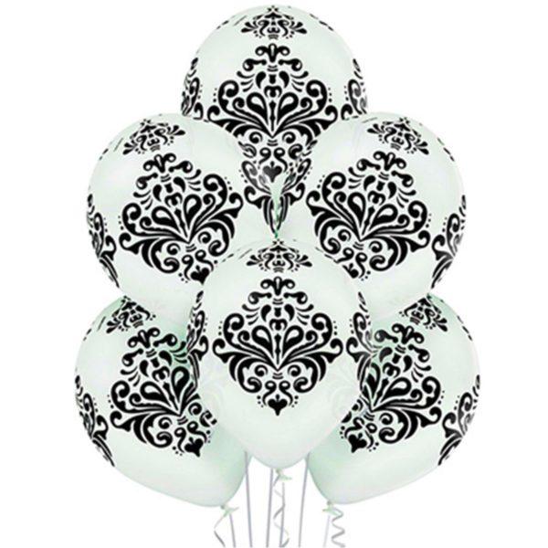 Латексные шарики с рисунком Дамаск
