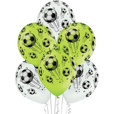 Латексные шарики с рисунком Футболный мячь