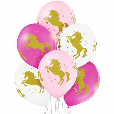 Латексные шарики с рисунком Единороги
