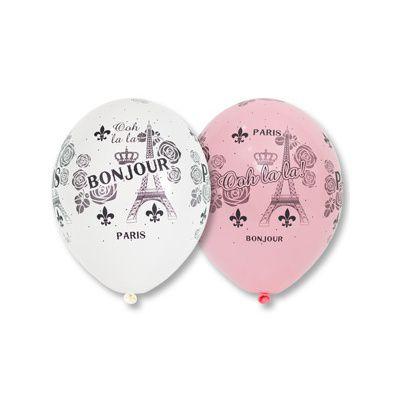 Латексные шарики с рисунком париж