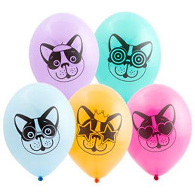 Латексные шарики с рисунком Собачек