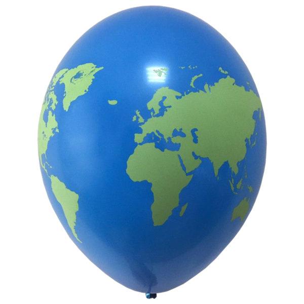 Латексные шарики с рисунком Земли