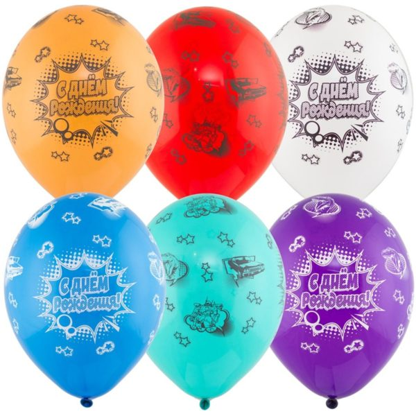 латексные шарики с рисунком Комиксы