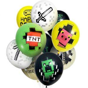 латексные шарики Пиксели Майнкрафт (3.93)