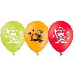 Латексные шарики с рисунком Веселые пираты