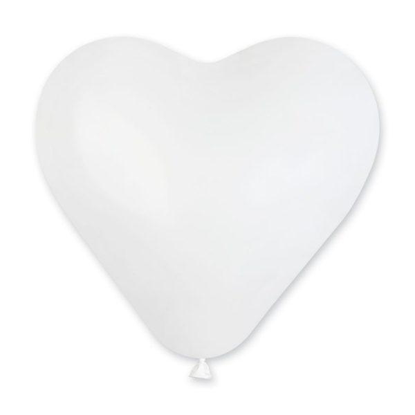 Латексное сердце белое