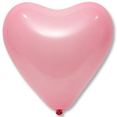 Латексные розовые сердечки.