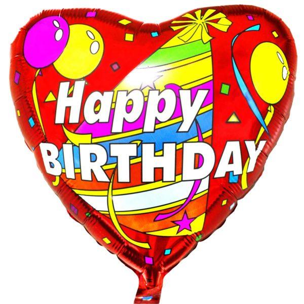 Фольгированный шарик с Днем рождения, колпак с шарами. Размер 45 см.