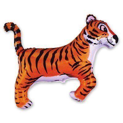 Фольгированный шар фигура тигр. Размер 76х90 см