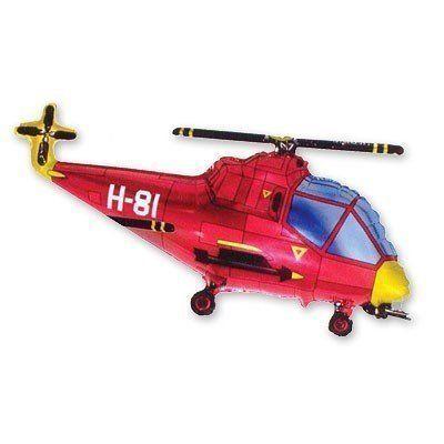 Фольгированный шар фигура вертолет. Размер 57х96 см