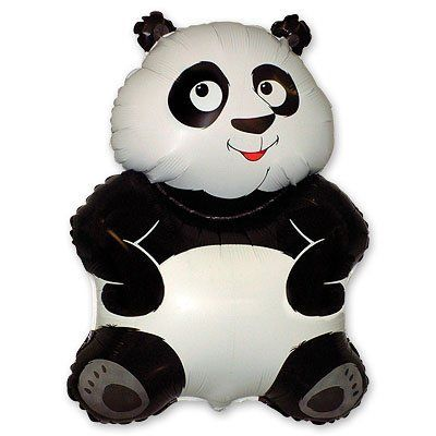 Фольгированный шар фигура панда. Размер 83х56 см