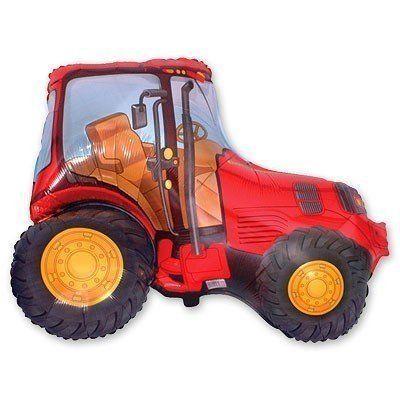 Фольгированный шар фигура трактор. Размер 78х94 см