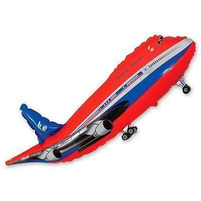 Фольгированный шар фигура самолет. Размер 52х100 см
