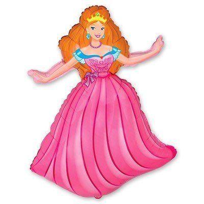 Фольгированный шар фигура Принцесса. Размер 99х69 см