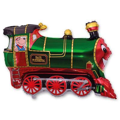 Фольгированный шар фигура поезд. Размер 70х80 см