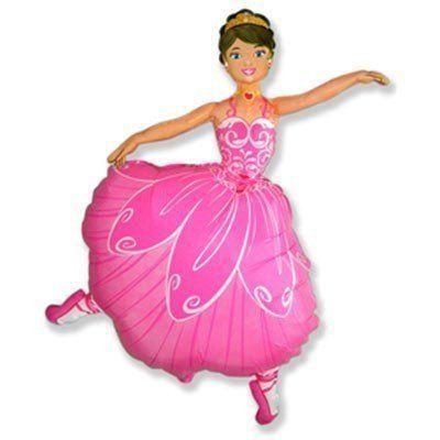 Фольгированный шар фигура балерина. Размер 103х70 см