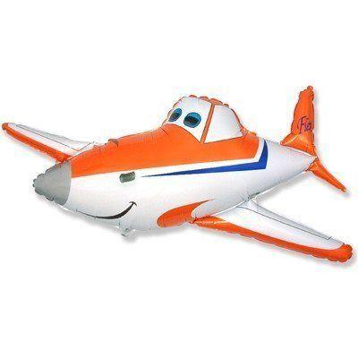 Фольгированный шар фигура самолетик Дасти. Размер 53х110 см