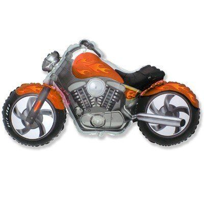 Фольгированный шар фигура мотоцикл. Размер 57х115 см