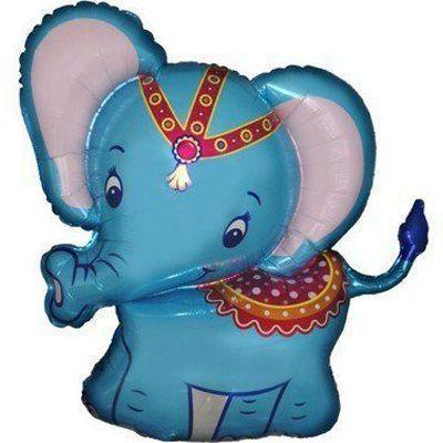 Фольгированный шар фигура слоник. Размер 82х87 см