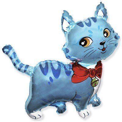 Фольгированный шар фигура кот. Размер 91х93 см